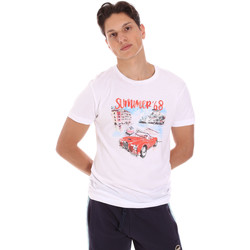 Textil Homem T-Shirt mangas curtas Key Up 2S427 0001 Branco