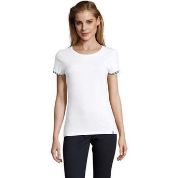 Textil Mulher T-Shirt mangas curtas Sols CAMISETA MANGA CORTA RAINBOW Blanco