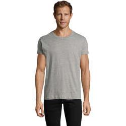 Textil Homem T-Shirt mangas curtas Sols REGENT FIT CAMISETA MANGA CORTA Gris