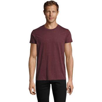 Textil Homem T-Shirt mangas curtas Sols REGENT FIT CAMISETA MANGA CORTA Burdeo
