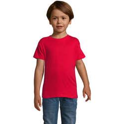 Textil Rapaz T-Shirt mangas curtas Sols REGENT FIT CAMISETA MANGA CORTA Rojo
