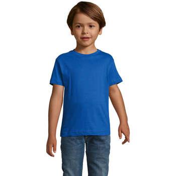 Textil Rapaz T-Shirt mangas curtas Sols REGENT FIT CAMISETA MANGA CORTA Azul