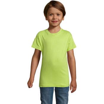 Textil Rapaz T-Shirt mangas curtas Sols REGENT FIT CAMISETA MANGA CORTA Verde