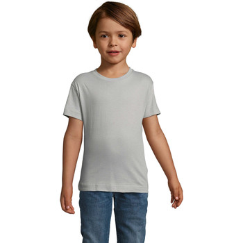 Textil Criança T-Shirt mangas curtas Sols REGENT FIT CAMISETA MANGA CORTA Gris