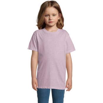Textil Criança T-Shirt mangas curtas Sols REGENT FIT CAMISETA MANGA CORTA Rosa