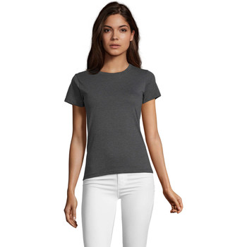 Textil Mulher T-Shirt mangas curtas Sols REGENT FIT CAMISETA MANGA CORTA Gris