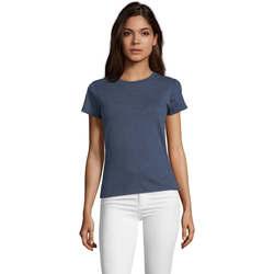 Textil Mulher T-Shirt mangas curtas Sols REGENT FIT CAMISETA MANGA CORTA Azul