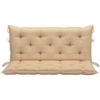 Casa Almofada de cadeira VidaXL Almofadão de cadeira 120 cm Bege
