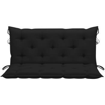 Casa Almofada de cadeira VidaXL Almofadão de cadeira 120 cm Preto
