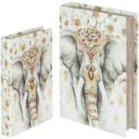 Casa Cestos e Caixas decorativas  Signes Grimalt Caixas Elephant Livro 2U, Em Setembro Multicolor