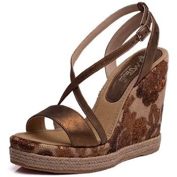Sapatos Mulher Sandálias Mtbali Sandalia Alpargata con cuña, Mujer - Modelo Moraira marrón