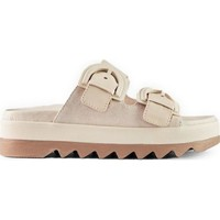 Sapatos Mulher Chinelos Cougar Pepa Suede Leather Oyster