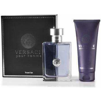 beleza Mulher Eau de parfum  Versace Set  Pour Homme colônia 100ml+Gel ducha 100ml Set Versace Pour Homme cologne 100ml+Gel ducha 100ml