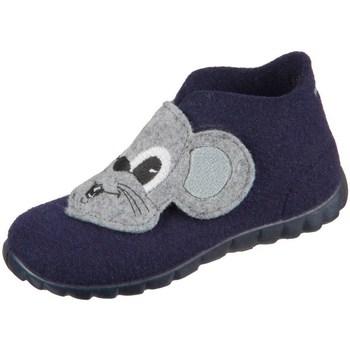 Sapatos Rapaz Pantufas bebé Superfit Happy Cinzento, Azul marinho