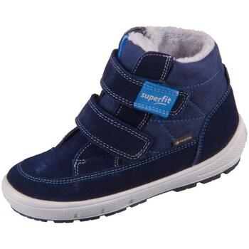 Sapatos Criança Botas de neve Superfit Groovy Azul, Azul marinho