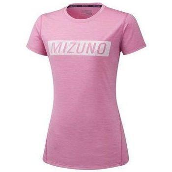 Textil Mulher T-Shirt mangas curtas Mizuno Impulse Core Tee Cor-de-rosa