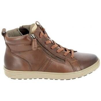 Sapatos Mulher Sapatilhas de cano-alto Jana Boots 25202 Cognac Castanho