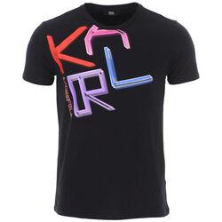 Textil Homem T-Shirt mangas curtas Karl Lagerfeld - kl21mts02 Preto