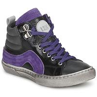 Sapatos Rapaz Sapatilhas de cano-alto Little Mary OPTIMAL Preto / Violeta