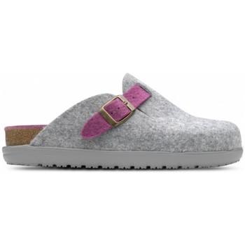 Sapatos Mulher Chinelos Feliz Caminar Zueco de Hogar DOMUS Cinza