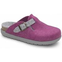 Sapatos Mulher Chinelos Feliz Caminar Zueco de Hogar DOMUS Rosa