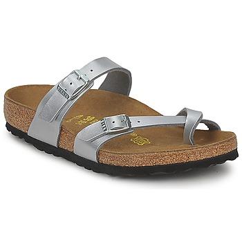 Sapatos Mulher Chinelos Birkenstock MAYARI Prata