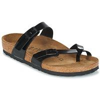 Sapatos Mulher Chinelos Birkenstock MAYARI Preto / Verniz