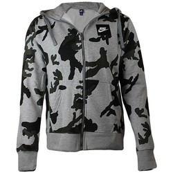 Textil Homem Sweats Nike Camo Tracktop Hoodie Preto, Cinzento