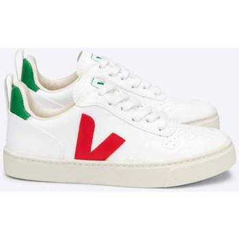 Sapatos Sapatilhas Veja V-10 Lace CWL White Pekin Branco