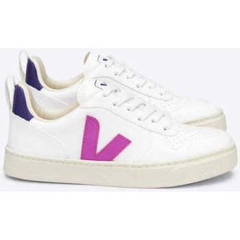 Sapatos Sapatilhas Veja V-10 Lace CWL White UltraRoxo Branco