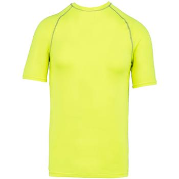 Textil T-Shirt mangas curtas Proact PA4007 Amarelo Fluorescente