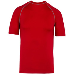 Textil T-Shirt mangas curtas Proact PA4007 Sporty Red