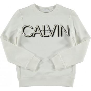 Textil Rapariga Sweats Calvin Klein Jeans IG0IG01006 Branco