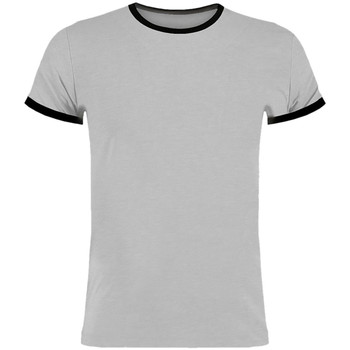 Textil Homem T-Shirt mangas curtas Kustom Kit KK508 Marl cinza claro/preto