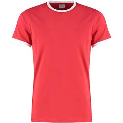 Textil Homem T-Shirt mangas curtas Kustom Kit KK508 Vermelho/branco