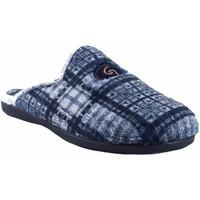 Sapatos Homem Chinelos Garzon Vá para casa cavalheiro  6001.292 azul Cinza
