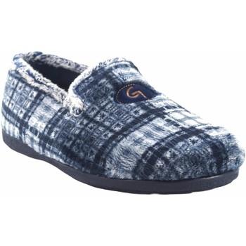 Sapatos Homem Chinelos Garzon Vá para casa cavalheiro  6501.292 azul Cinza