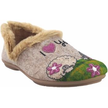 Sapatos Mulher Chinelos Garzon Vá para casa Sra.  5393.279 bege Verde