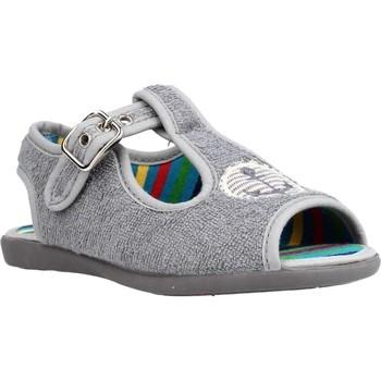 Sapatos Rapaz Chinelos Chispas 38155016 Cinza