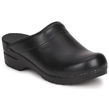 Sapatos Mulher Tamancos Sanita SONJA OPEN Preto
