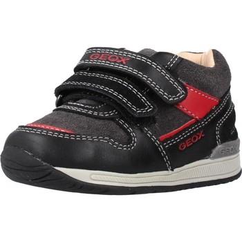 Sapatos Rapaz Botas Geox B RISHON BOY Preto