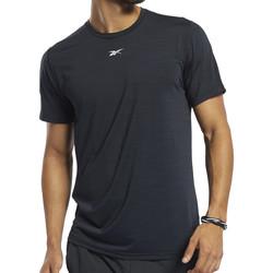 Textil Homem T-Shirt mangas curtas Reebok Sport  Preto