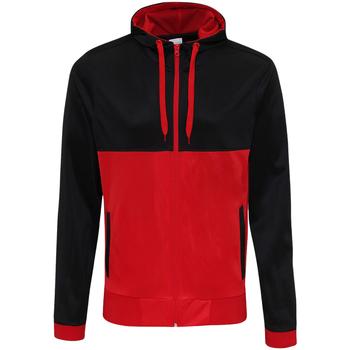 Textil Homem Sweats Awdis JH059 Jet Black/Fire Red