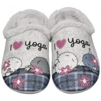 Sapatos Mulher Chinelos Garzon 58518 cinza