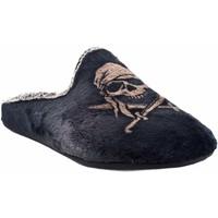 Sapatos Homem Chinelos Vulca Bicha Vá para casa cavalheiro  1803 preto Cinza
