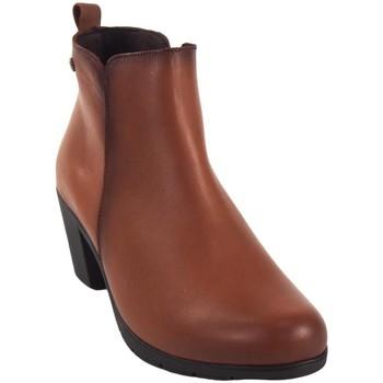 Sapatos Mulher Botins Pepe Menargues Saque de senhora  couro Castanho
