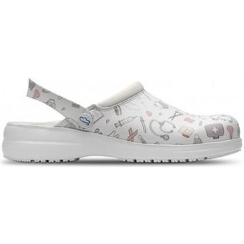 Sapatos Tamancos Feliz Caminar ZUECOS SANITARIOS UNISEX MYCROM Branco