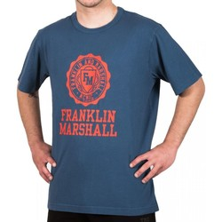 Textil Homem T-Shirt mangas curtas Franklin & Marshall T-shirt Franklin & Marshall Classique bleu marine