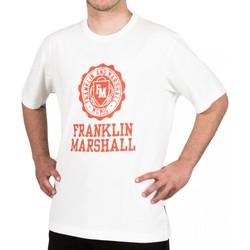 Textil Homem T-Shirt mangas curtas Franklin & Marshall T-shirt Franklin & Marshall Classique blanc crème