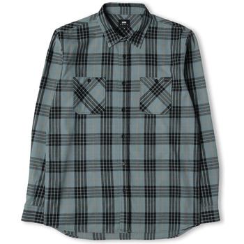 Textil Homem Camisas mangas comprida Edwin Chemise  Labour gris/noir